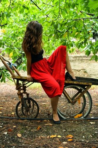 La jupe longue Coquelicot