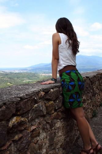 La jupe droite Hibiscus