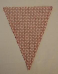 Guirlande de fanions en tissu| Etape 3