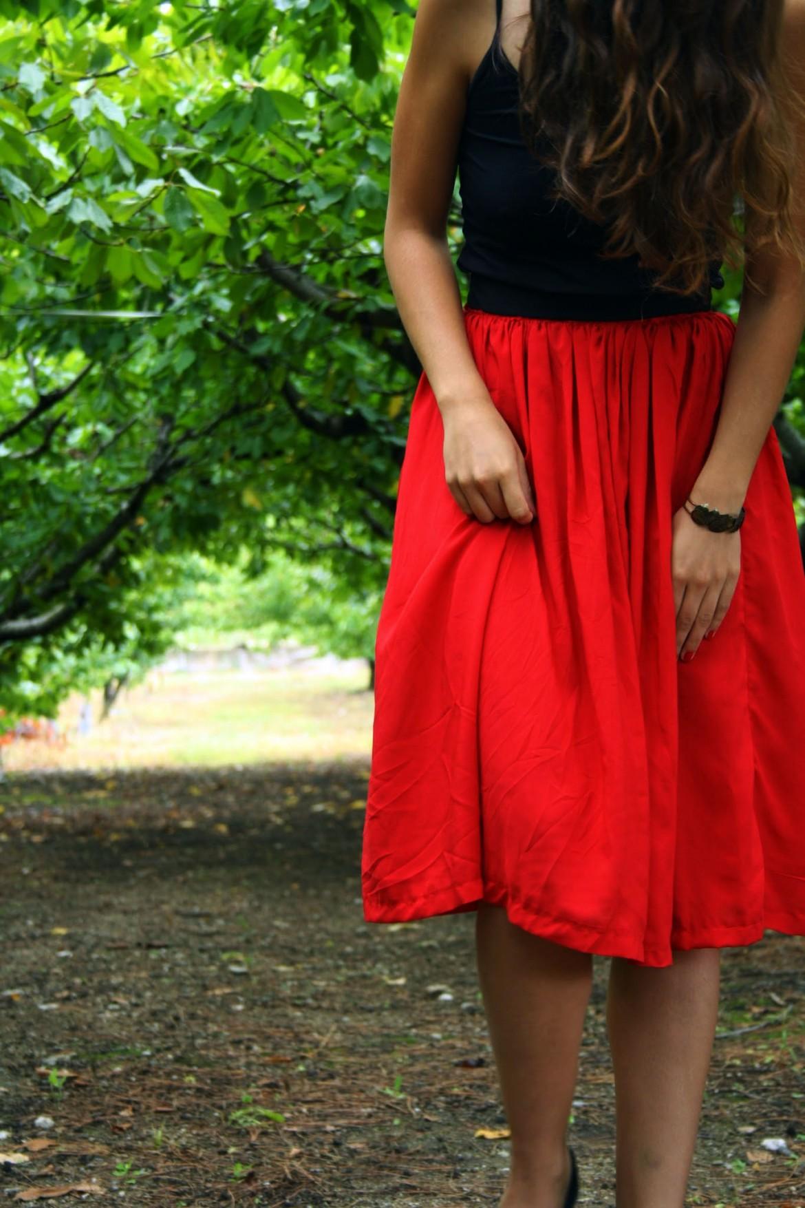 DIY : la jupe longue Coquelicot